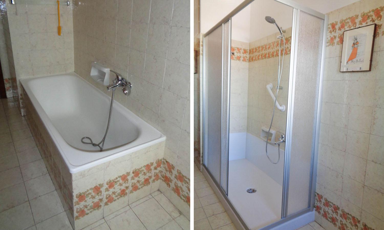 Trasformazione da vasca a doccia Tecnobad